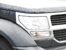 L'automobile moderna di stile illumina l'effetto del primo piano Fotografie Stock Libere da Diritti