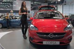 L'automobile Opel Corsa gode di Fotografie Stock