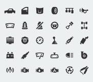 L'automobile parte le grandi icone Immagine Stock