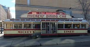L'automobile pranzante di Mickey Fotografia Stock Libera da Diritti