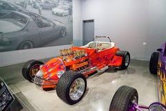 L'automobile scoperta a due posti 1925 di Ford Altered T dell'arancia ha chiamato Golden Star Fotografie Stock Libere da Diritti