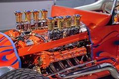 L'automobile scoperta a due posti 1925 di Ford Altered T dell'arancia ha chiamato Golden Star Immagine Stock