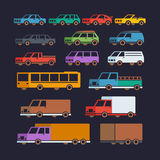 L'automobile scrive le icone piane illustrazione vettoriale