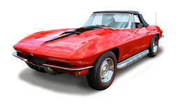 L'automobile sportiva classica Corvetta ha isolato immagini stock