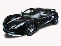 L'automobile sportiva del nero di tutto immagini stock libere da diritti
