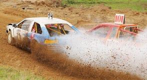 L'automobile sulla pista Fotografia Stock