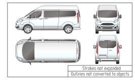 L'automobile van drawing descrive non convertito in oggetti Fotografia Stock