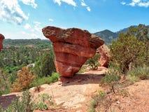 L'autre roche équilibrée à Colorado Springs photo libre de droits