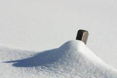 l'Autriche - frontière de sécurité neigeuse Photographie stock libre de droits