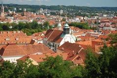l'Autriche Graz au-dessus de la vue Photo libre de droits