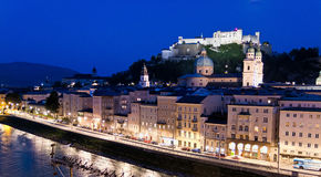 l'Autriche, Salzbourg, Festung Hohensalzburg Photos stock