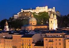 l'Autriche, Salzbourg, Festung Hohensalzburg image stock
