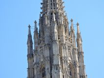 L'Autriche, Vienne, architecture exquise des murs en pierre des bâtiments image libre de droits
