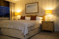 L'Autriche, Vienne 19 février 2014 : Vienne intercontinentale Intérieur de chambre à coucher dans le style classique Images stock