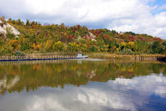 L'autunno colora la riflessione Fotografia Stock Libera da Diritti