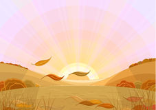 L'autunno foglio-cade Immagini Stock Libere da Diritti