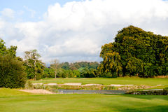 L'autunno nel terreno da golf Immagine Stock Libera da Diritti