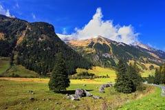 L'autunno nelle alpi austriache Fotografia Stock Libera da Diritti