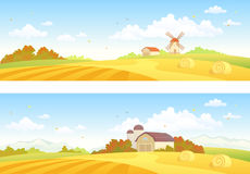 L'autunno sistema le insegne illustrazione di stock