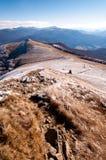 L'autunno tardo in montagna di Bieszczady Immagini Stock Libere da Diritti