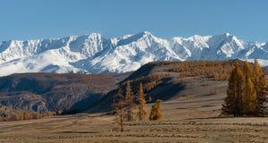 L'autunno tardo nelle valli intorno alla cresta del nord di Chui Fotografia Stock Libera da Diritti