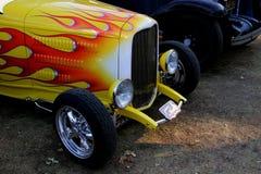 L'avant d'un hotrod classique à un salon automobile dans Calistoga qui est une ville dans Napa Valley photographie stock libre de droits