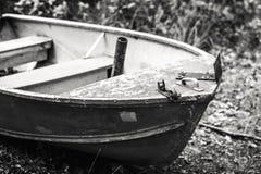 L'avant d'un petit bateau à rames Images libres de droits