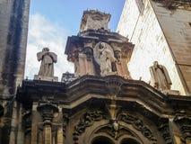 L'avant de l'église paroissiale collégiale du naufrage du ` s de St Paul en capitale de Malte - La Valette Photographie stock libre de droits