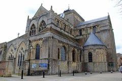 L'avant de l'abbaye de Romsey image libre de droits