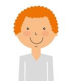 l'avatar de garçon a isolé la conception d'icône illustration de vecteur