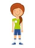 l'avatar de joueur a isolé la conception d'icône Images libres de droits