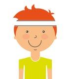 l'avatar de joueur a isolé la conception d'icône Illustration de Vecteur