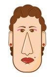 L'avatar del mezzo ha invecchiato l'illustrazione di vettore della donna nello stile piano Immagine Stock