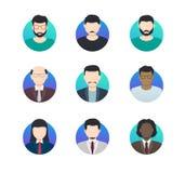 L'avatar profile les personnes anonymes d'icônes minimalistic de différentes nationalités illustration stock