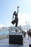 L'avenue des étoiles à Hong Kong Photo stock