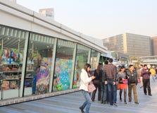 L'avenue des étoiles en Hong Kong Photos libres de droits