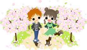 L'avenue du cerisier illustration stock