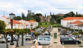 L'avenue et le château Photo stock