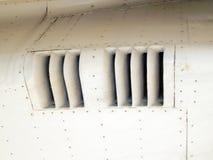 L'aviation donne à l'électrodéposition une consistance rugueuse des avions et de l'hélicoptère Photo stock