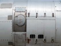 L'aviation donne à l'électrodéposition une consistance rugueuse des avions et de l'hélicoptère Photos libres de droits