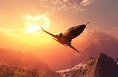 L'avion ? r?action illustration stock
