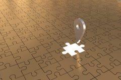 L'avion absent local d'or de morceau de puzzle Images stock