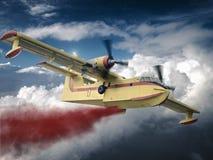L'avion combat le feu Image libre de droits