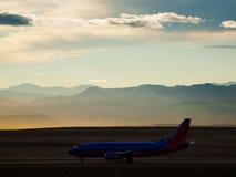 L'avion décollent Images libres de droits