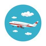 L'avion d'icône vole à l'ouest Image libre de droits