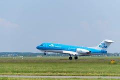 L'avion de KLM décolle Images libres de droits