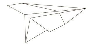 L'avion de papier est simple dans l'exécution, vecteur illustration de vecteur