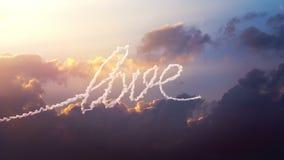 L'avion dessine le mot l'extrémité sur le ciel illustration libre de droits