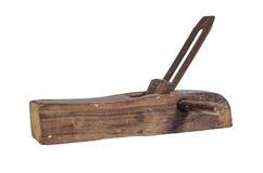 L'avion du charpentier sur le fond blanc Photographie stock