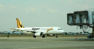 L'avion du tigre à l'aéroport de Tan Son Nhat dans Saigon, Vietnam Image libre de droits